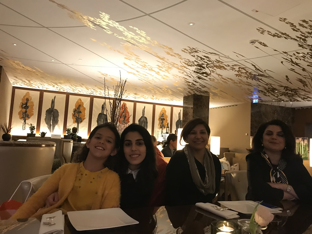 Azzie Nezhat MD and Yassi Miremadi with their daughters